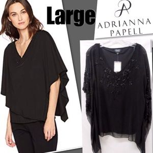 🏆HP🏆NWT Adrianna Pappell Beaded Poncho